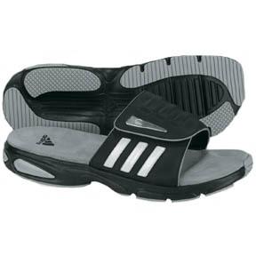 adidas Supernova Soccer Sandal / Slide (Black/White/Silver)