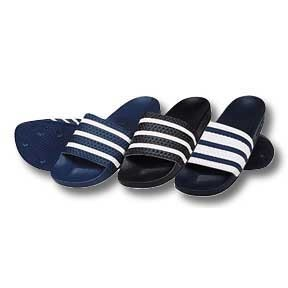 adidas Adilette Soccer Sandals / Slides (Black/White)