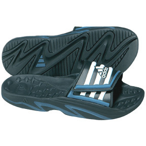 adidas Youth Paleossage Soccer Sandal / Slide (Black/White/Blue)