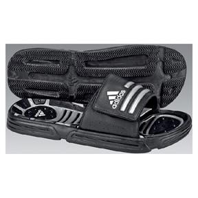adidas Tarissage Soccer Sandal / Slide (Black/Silver)