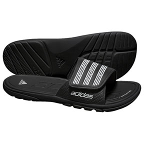 adidas adiLIGHT Soccer Sandal / Slide (Black/White)