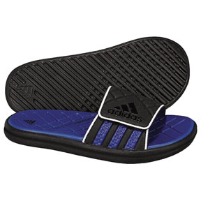 adidas Youth Zeitfrei Soccer Sandal / Slide (Black/Royal)
