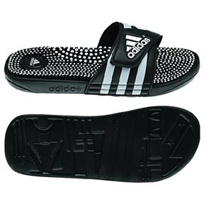 adidas adissage Fade Soccer Sandal / Slide (Black/Silver)