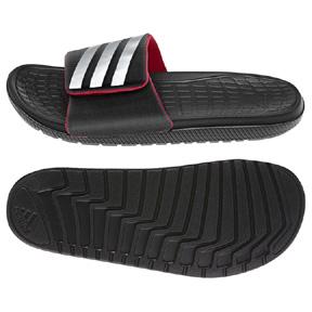 adidas Voloomix Vario Soccer Sandal / Slide (Black/Grey/Red)
