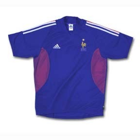 adidas France Soccer Jersey (Home 2002)