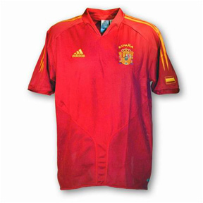 adidas Spain Soccer Jersey (Home 2004/05)