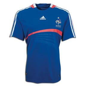 adidas France Soccer Jersey (Home 2008/09)
