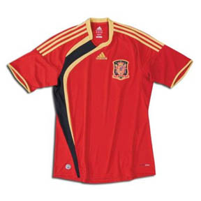 Adidas  Spain Soccer Jersey (Home 2009/10)