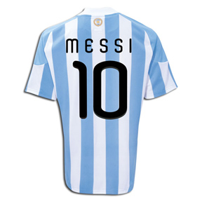 adidas Argentina Messi #10 Soccer Jersey (Home 2010/11)