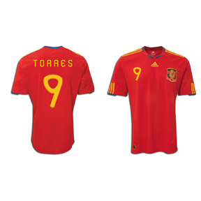 adidas Spain Torres #9 Soccer Jersey (Home 2010/11)