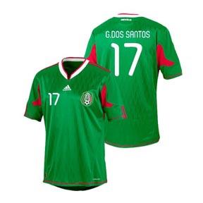 adidas Mexico dos Santos #17 Soccer Jersey (Home 2010/11)