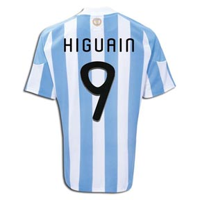 adidas Argentina Higuain #9 Soccer Jersey (Home 2010/11)