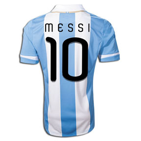 adidas Argentina Lionel Messi #10 Soccer Jersey (Home 2011/12)