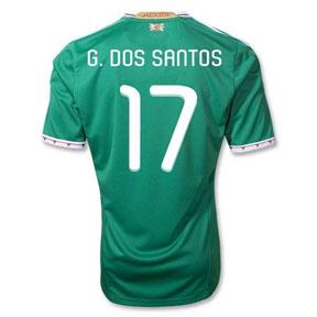 adidas  Mexico dos Santos #17 Soccer Jersey (Home 2011/12)