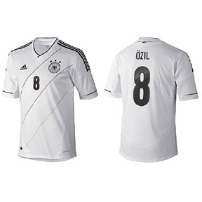 adidas  Germany Ozil #8 Soccer Jersey (Home 2012/13)