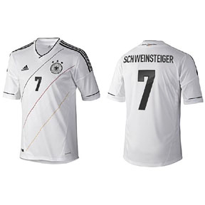 adidas  Germany Schweinsteiger #7 Soccer Jersey (Home 2012/13)
