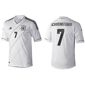 adidas Youth Germany Schweinsteiger #7 Soccer Jersey (Home 12/13)