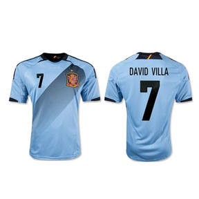 adidas Spain Villa #7 Soccer Jersey (Away 2012/13)