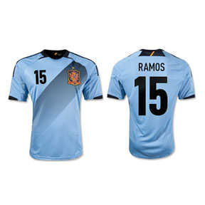adidas  Spain Ramos #15 Soccer Jersey (Away 2012/13)