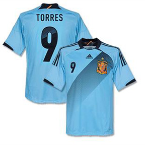 adidas Spain Torres #9 Soccer Jersey (Away 2012/13)