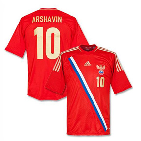 adidas Youth Russia Arshavin #10 Soccer Jersey (Home 2012/13)