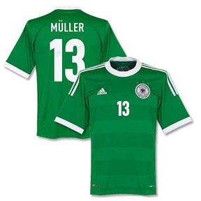 adidas  Germany Muller #13 Soccer Jersey (Away 2012/13)