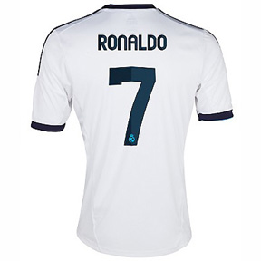 adidas Youth  Real Madrid Ronaldo #7 Soccer Jersey  (Home 2012/13)