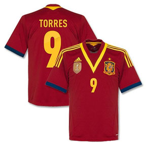 adidas Spain Torres #9 Soccer Jersey (Home 2013/14)