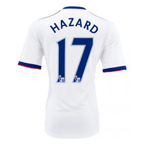 adidas Youth Chelsea Hazard #17 Soccer Jersey (Away 13/14)