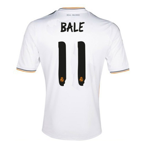 adidas  Real Madrid Bale #11 Soccer Jersey (Home 2013/14)