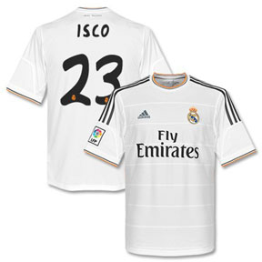 adidas Real Madrid Isco #23 Soccer Jersey (Home 2013/14)