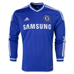adidas Chelsea Long Sleeve Soccer Jersey (Home 2013/14)