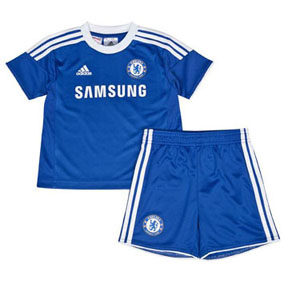 adidas Young Boy Chelsea Soccer Jersey Mini Kit (Home)