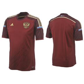 adidas Russia World Cup 2014 Soccer Jersey (Home)