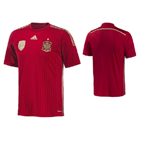 adidas Spain World Cup 2014 Soccer Jersey (Home)