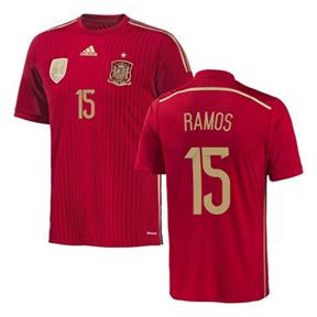 adidas Spain Sergio Ramos #15 Soccer Jersey (Home 2014)