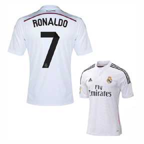 adidas  Real Madrid  Ronaldo #7 Soccer Jersey (Home 2014/15)