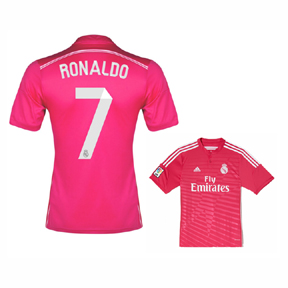 adidas  Real Madrid  Ronaldo #7 Soccer Jersey (Away 2014/15)