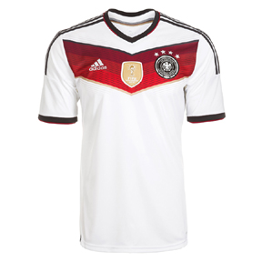 adidas Youth Germany 4 Star Champions Soccer Jersey (Home)