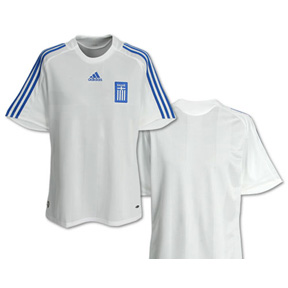 adidas Youth Greece Soccer Jersey (Home 2008/09)
