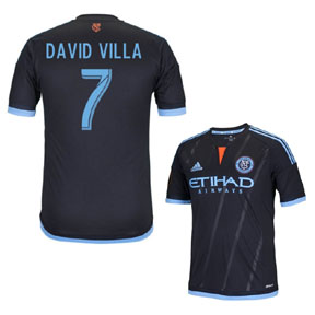 adidas  New York City FC Villa #7  Soccer Jersey (Away 2015/16)