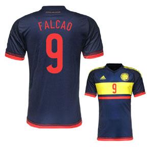 adidas Colombia Falcao #9 Soccer Jersey (Away 2015/16)