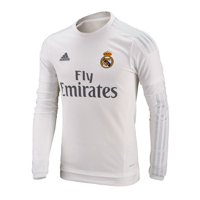 adidas Real Madrid Long Sleeve Soccer Jersey (Home 2015/16)
