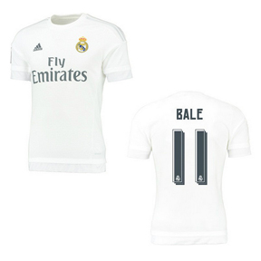 adidas Youth Real Madrid Bale #11 Soccer Jersey (Home 15/16)