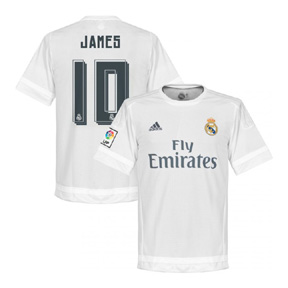 adidas Youth Real Madrid James #10 Soccer Jersey (Home 15/16)