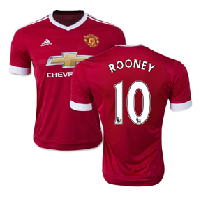 adidas Manchester United Rooney #10 Soccer Jersey (Home 15/16)