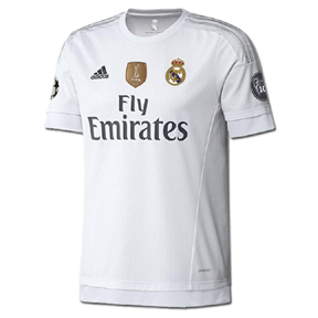 adidas Real Madrid UEFA CL Soccer Jersey (Home 2015/16)