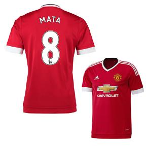 adidas Manchester United Mata #8 Soccer Jersey (Home 2015/16)