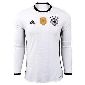 adidas  Germany  Euro 2016 Long Sleeve Soccer Jersey (Home)