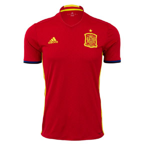 adidas  Spain  Euro 2016 Soccer Jersey (Home)